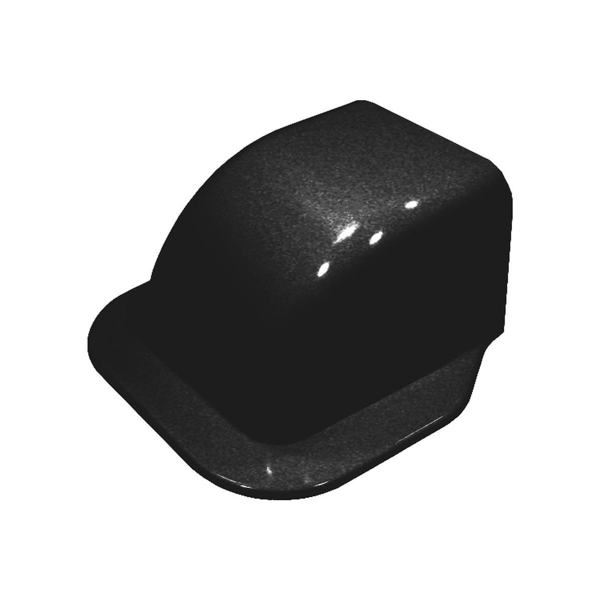 Gavellock med kant 80 x 60 mm svart