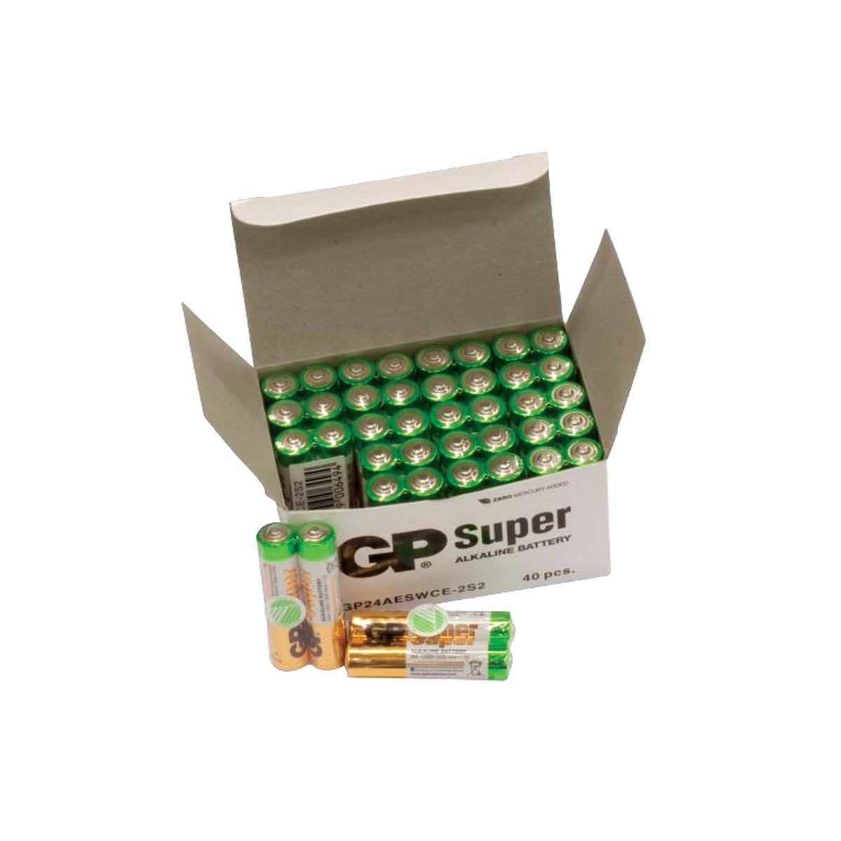 Batteri LR03/AAA Bulk Pack 40 stk - GP Super Alkal