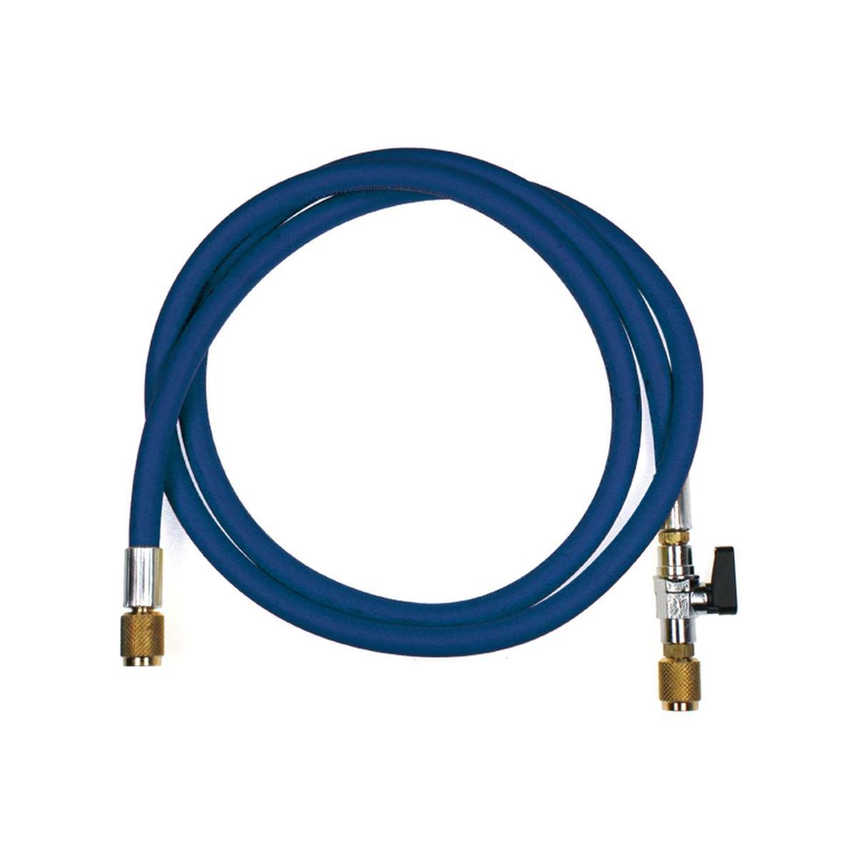 """Fyldeslange blå med kugleventil 1/4"""" SAE - Refco"""