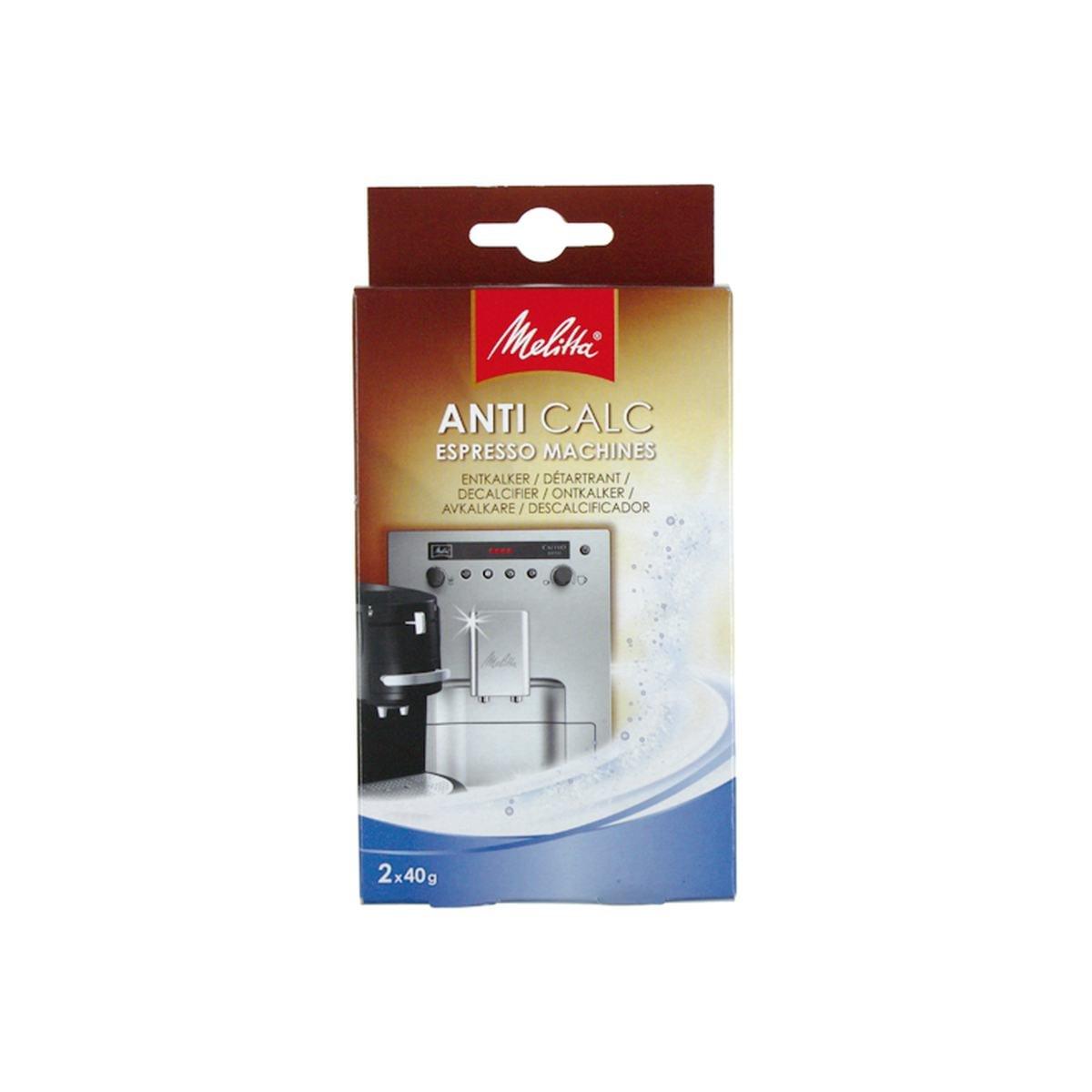 Avkalkningspulver Anti Calc Espresso 2 x 40 gram -