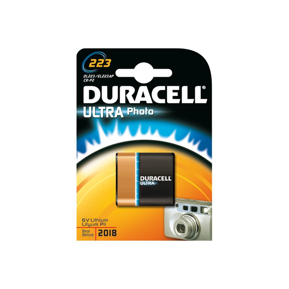 Batteri 223 / cr-p2 6v ultra  - Duracell