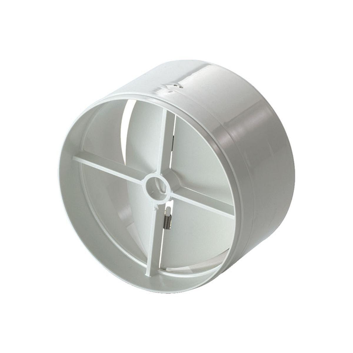 Vindstop / spjæld i plast til Ø125 mm. rør