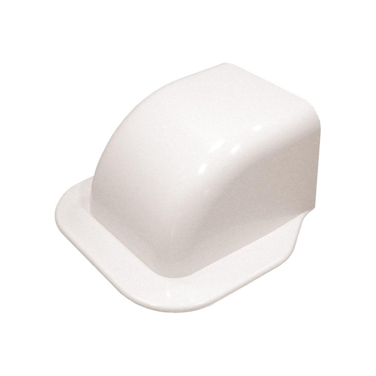Gavellock med kant 80x60 mm vit