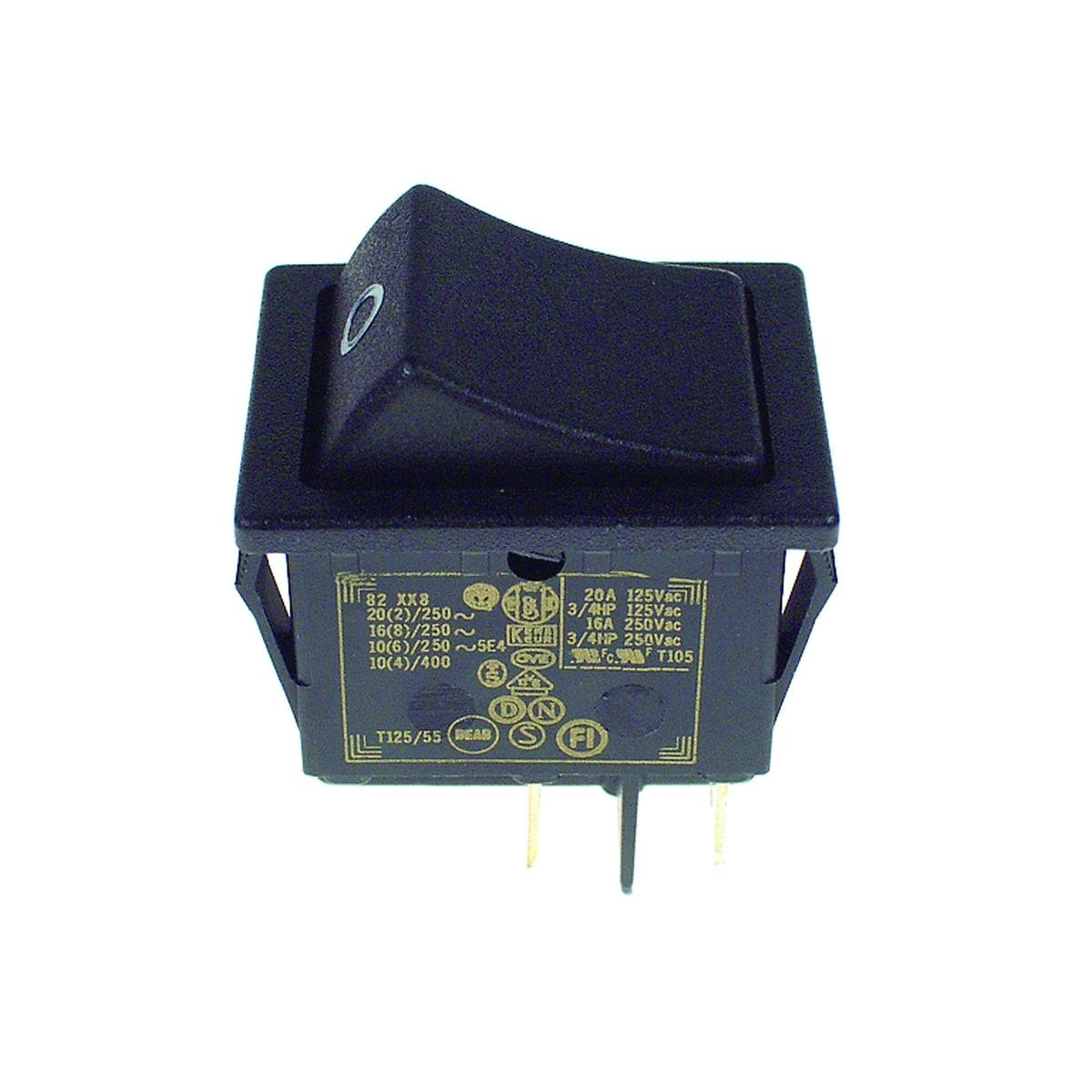 Dobbeltafbryder sort 30 x 22 mm. hulmål