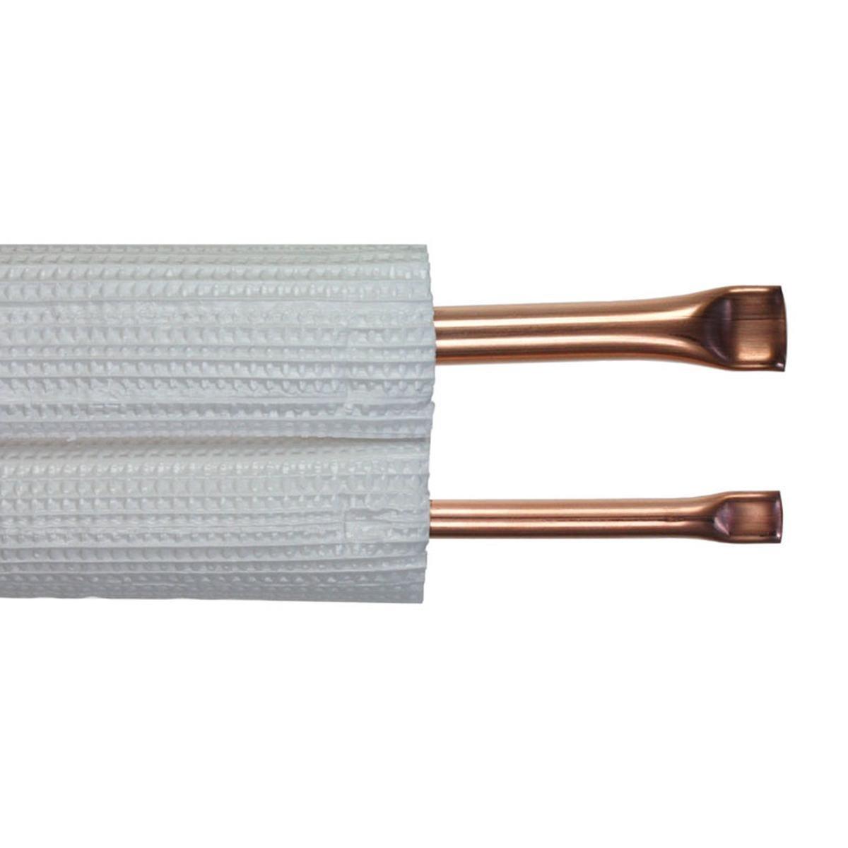 "Kopparrör isolerad dubbel 1/4""+1/2"" x 0,8 mm. 20 m"