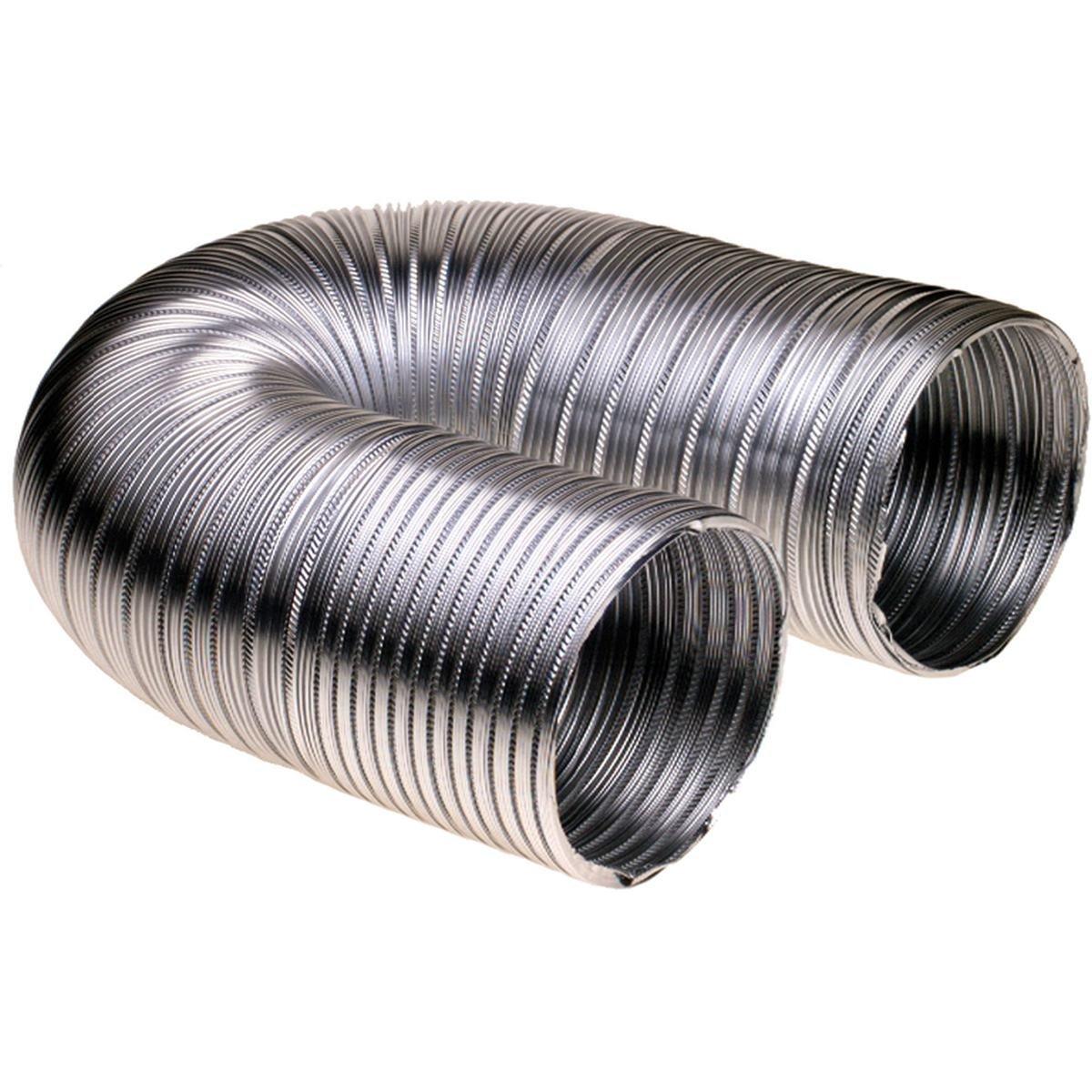 Aftræksslange i aluminium Ø102 mm. 1,5 meter