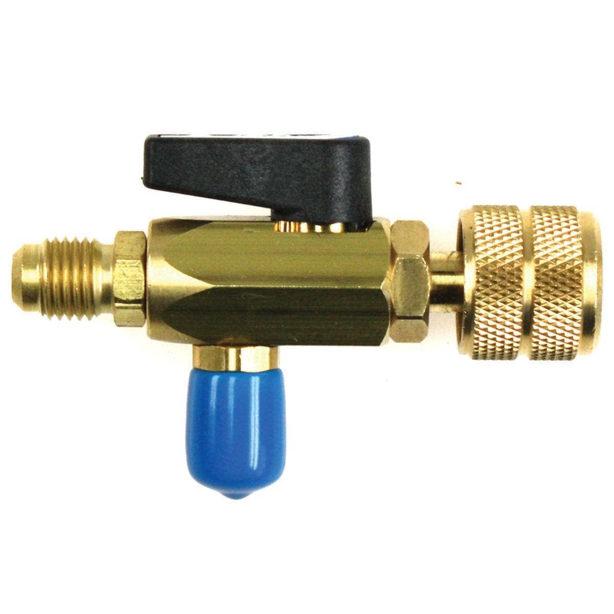 Adapter med kugleventil til R290 engangsflaske