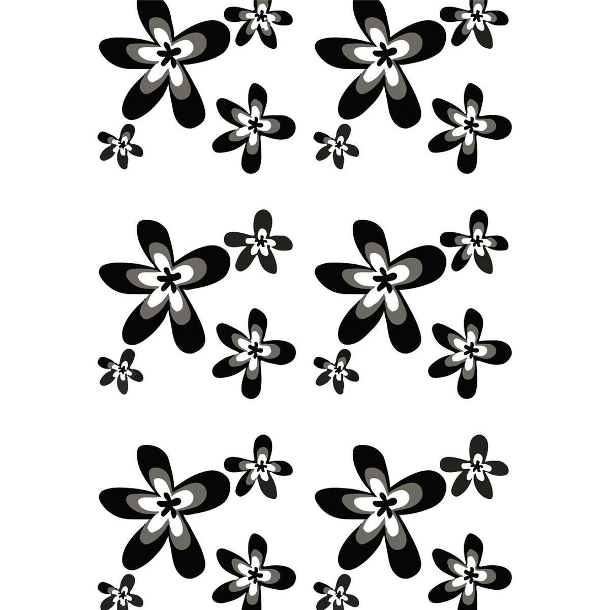 Badeforhæng 180x200 cm - Geyser Black Flower