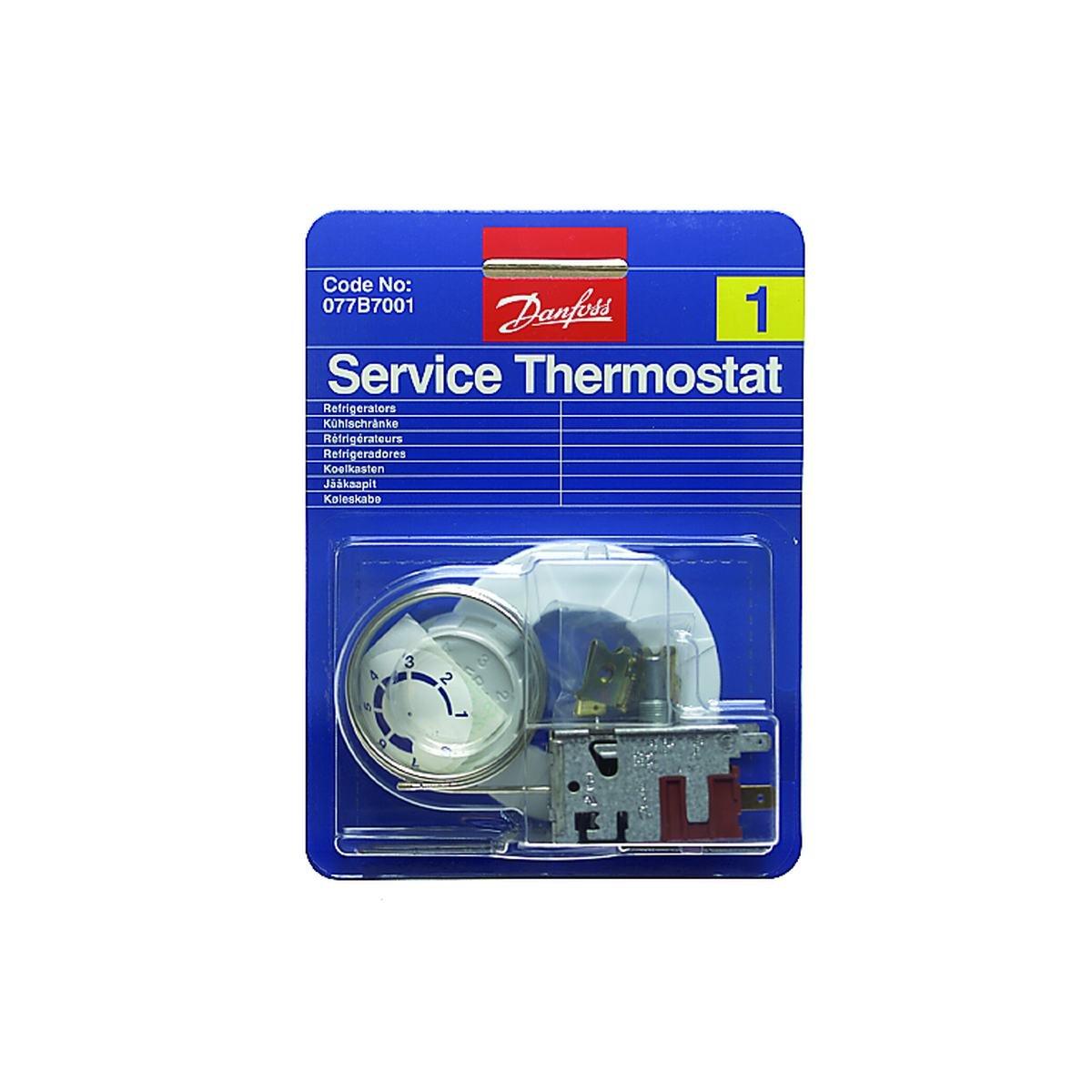 Servicetermostat nr 1 med tillbehör 130 mm kapilar