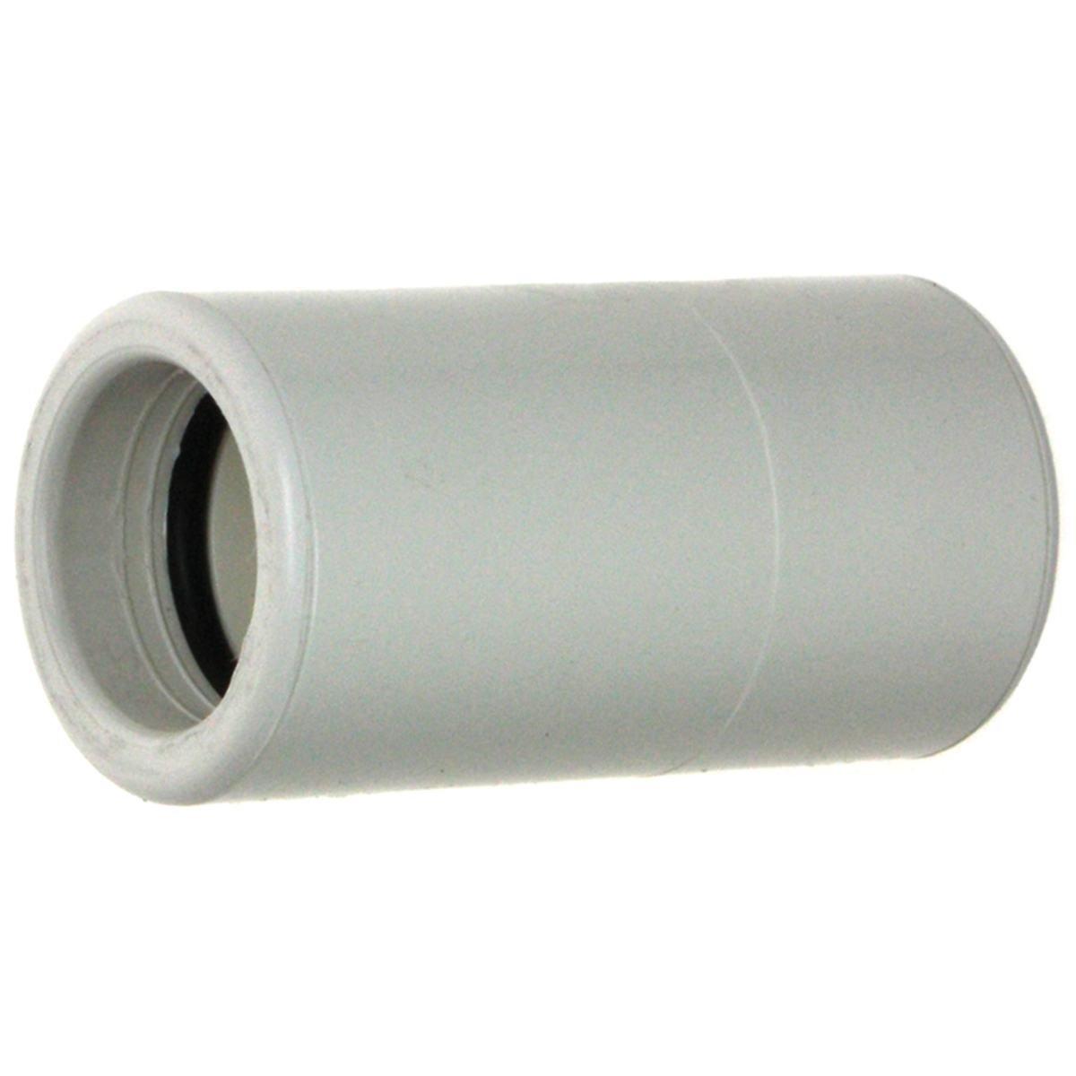 Rørmuffe lige med O-ringe til 20 mm rør