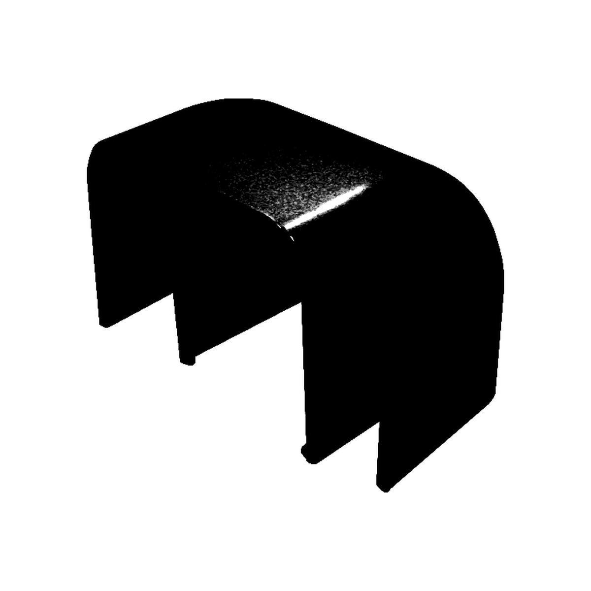 Hörn utvändig 80 x 60 mm svart