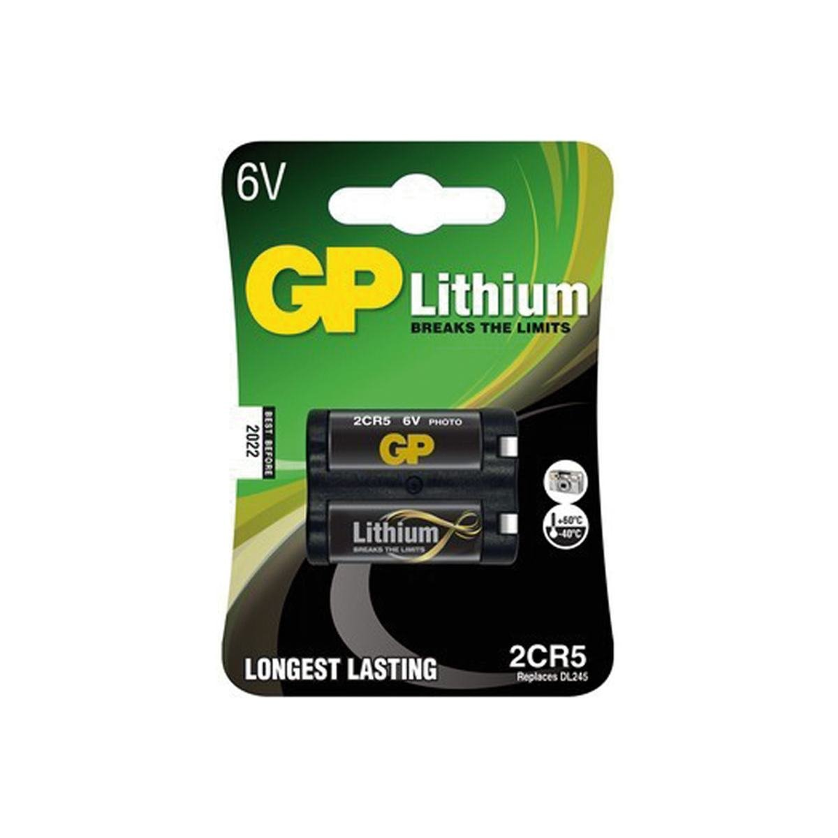 Batteri 6V Lithium 2CR5/245 - GP Batteries