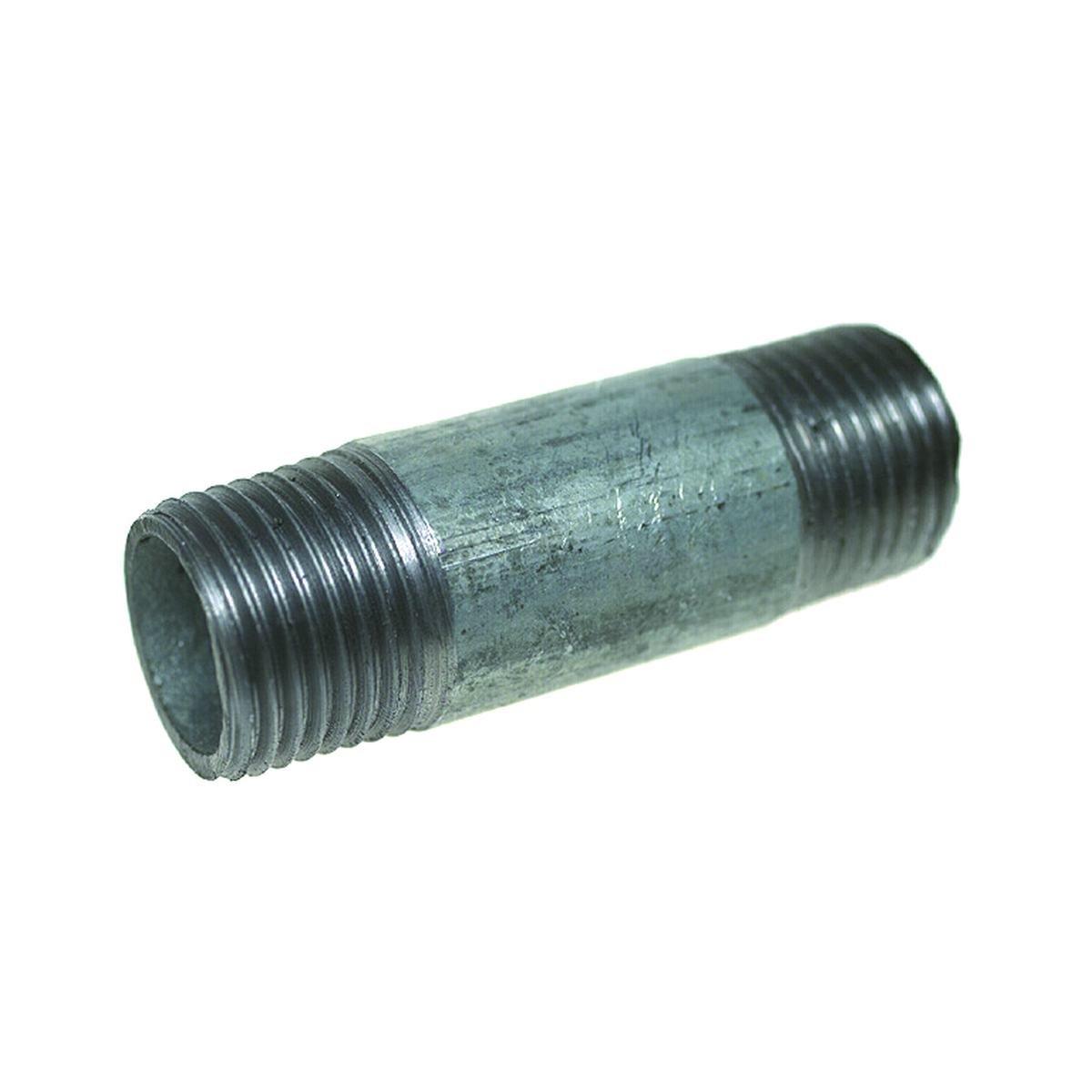 """Nippelrør 1/2"""" 60 mm. galvanisertt"""