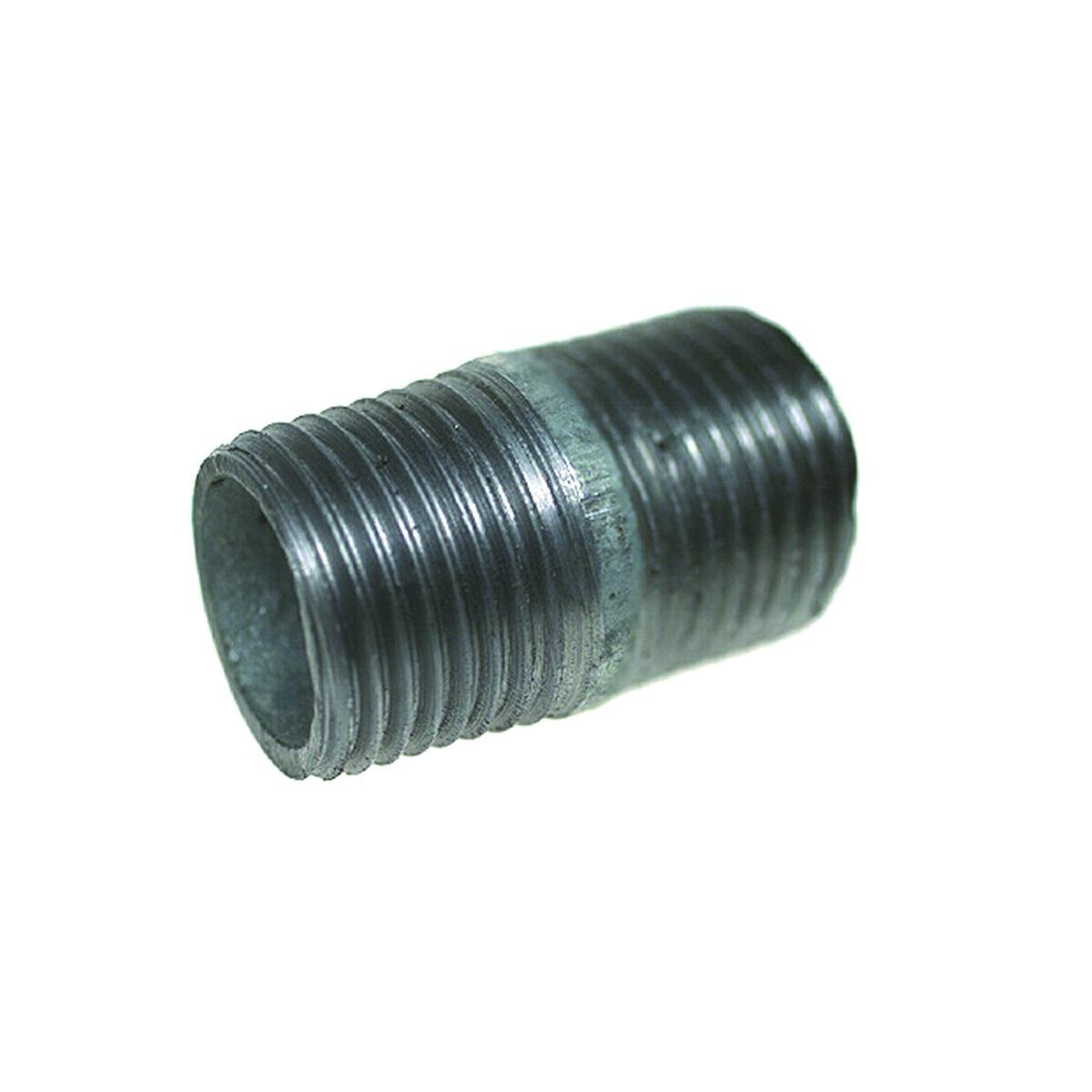 """Nippelrør 1/2"""" 30 mm. galvanisertt"""