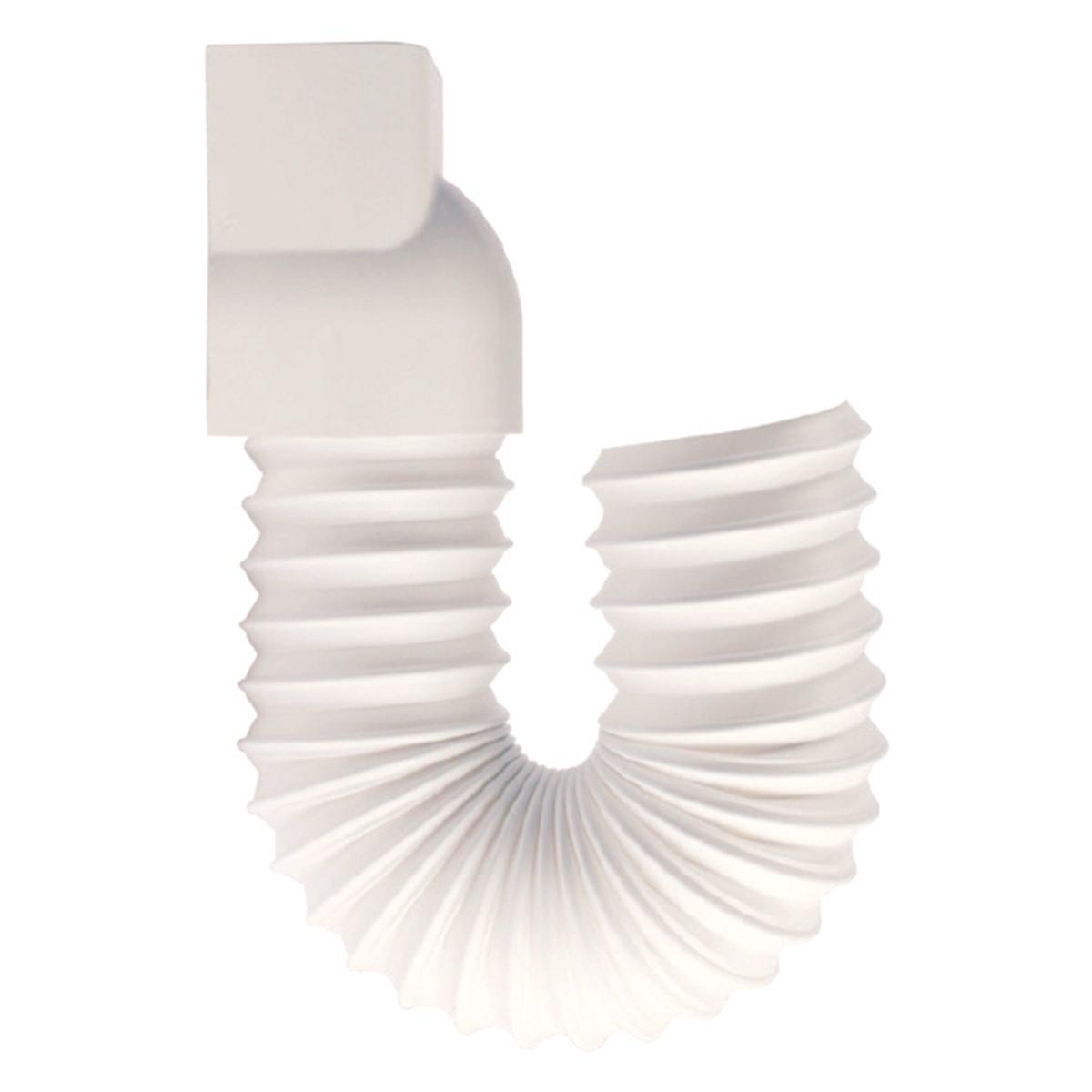 Overgang fleksibel til udedel 80 x 60 mm hvid