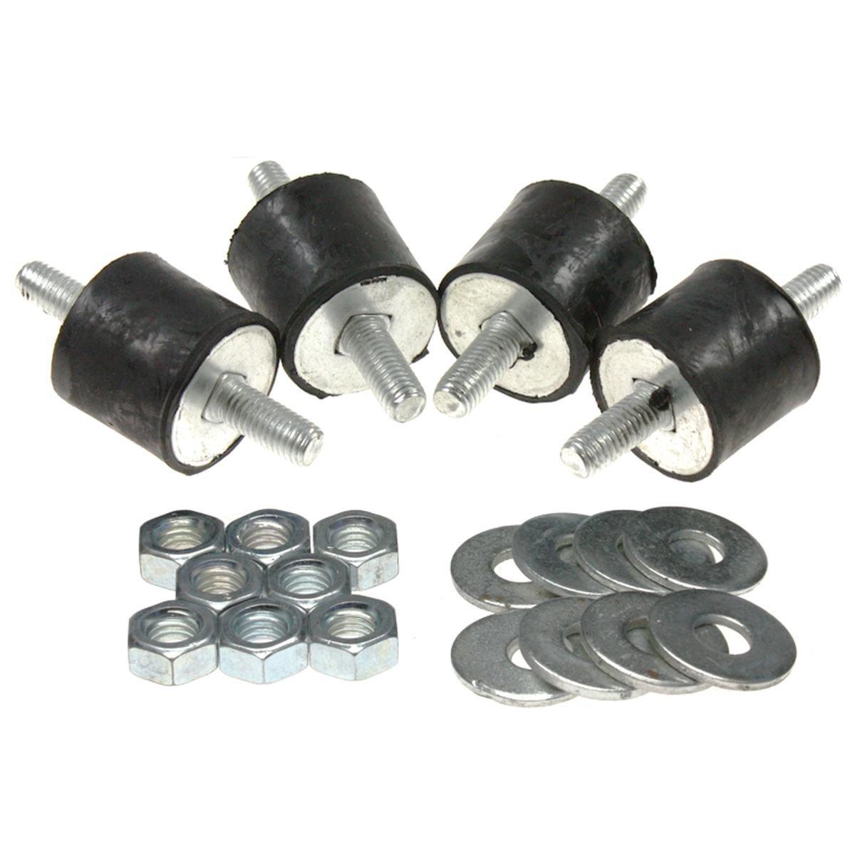 Vibrationsdämpare 4 st. 25-40 kg cylindrisk