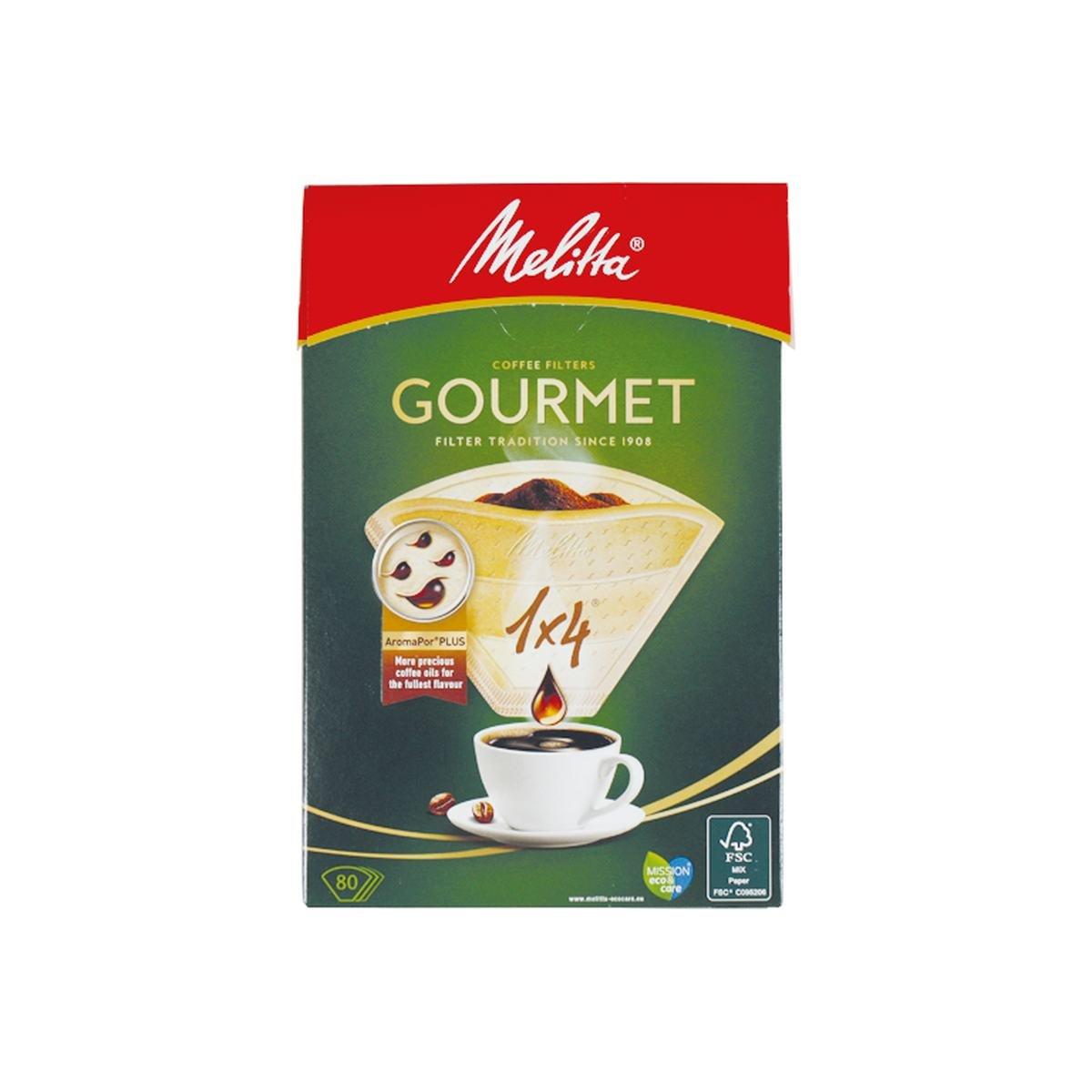 Kaffefilter str. 1/4 Gourmet Aroma Pure  - Melitta