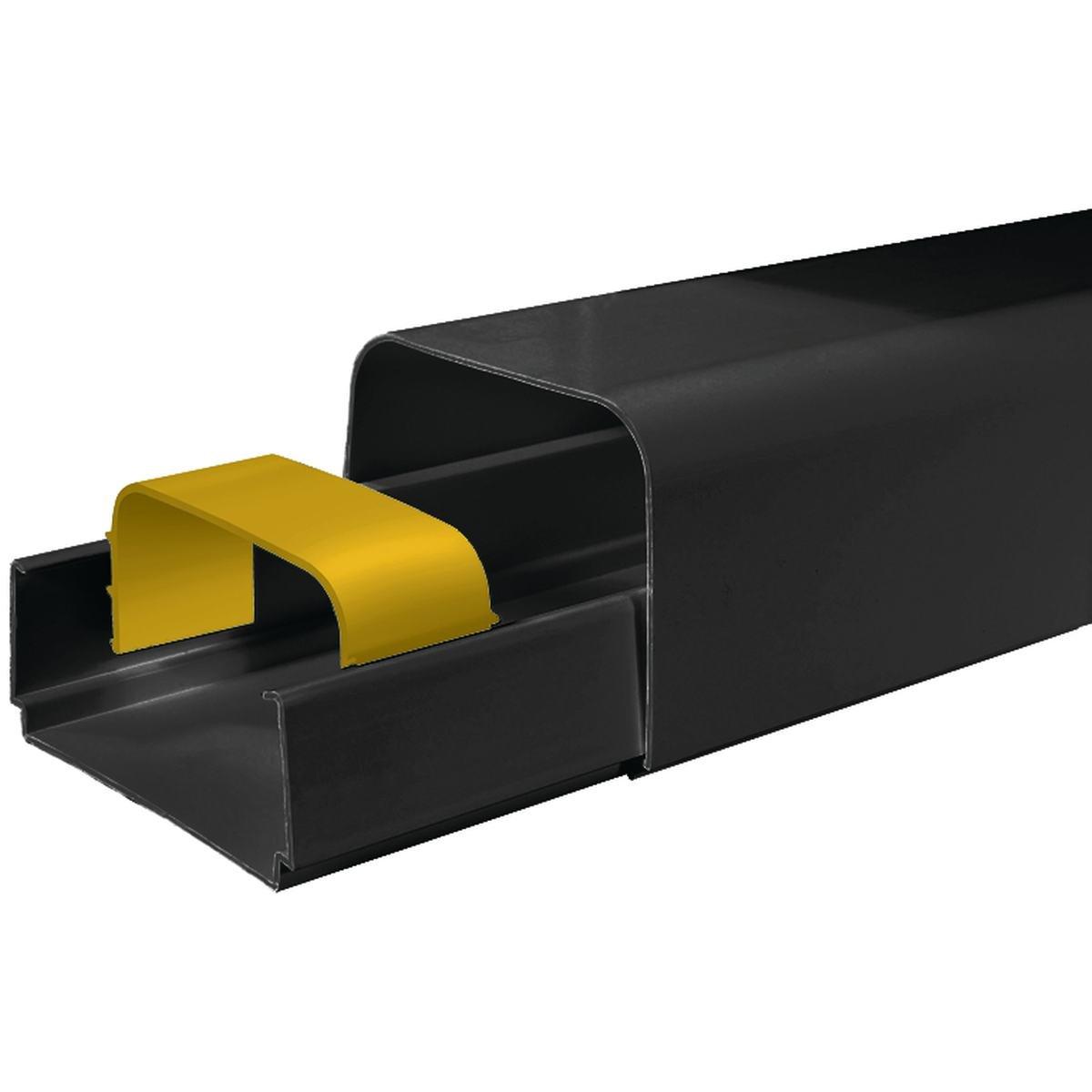Kanallåda 80 x 60 mm svart 1 stk á 2 m