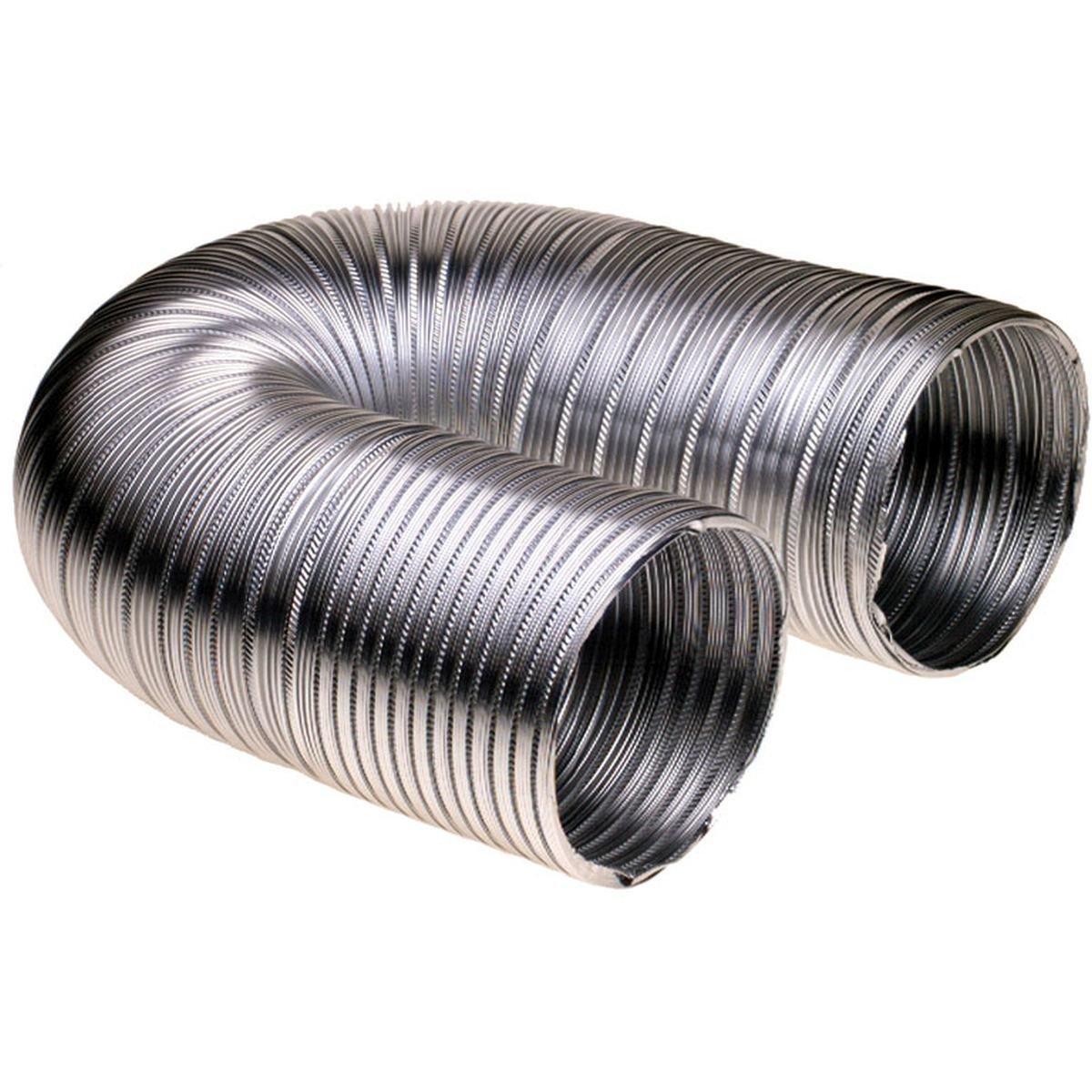 Aftræksslange i aluminium Ø127 mm. 1,5 meter
