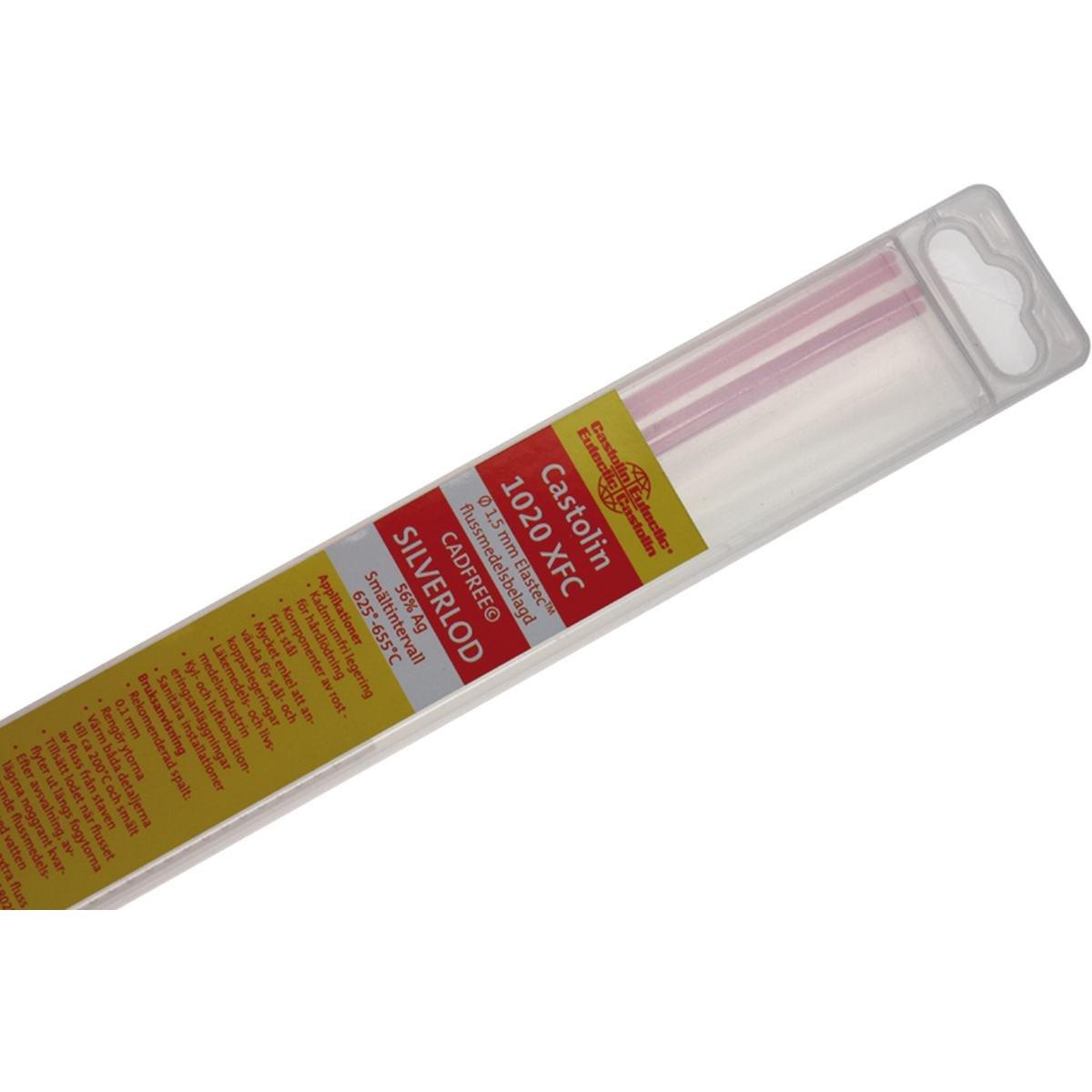Sølvlod 1,5 mm. 57% Ag flussbelagt - 4 stave
