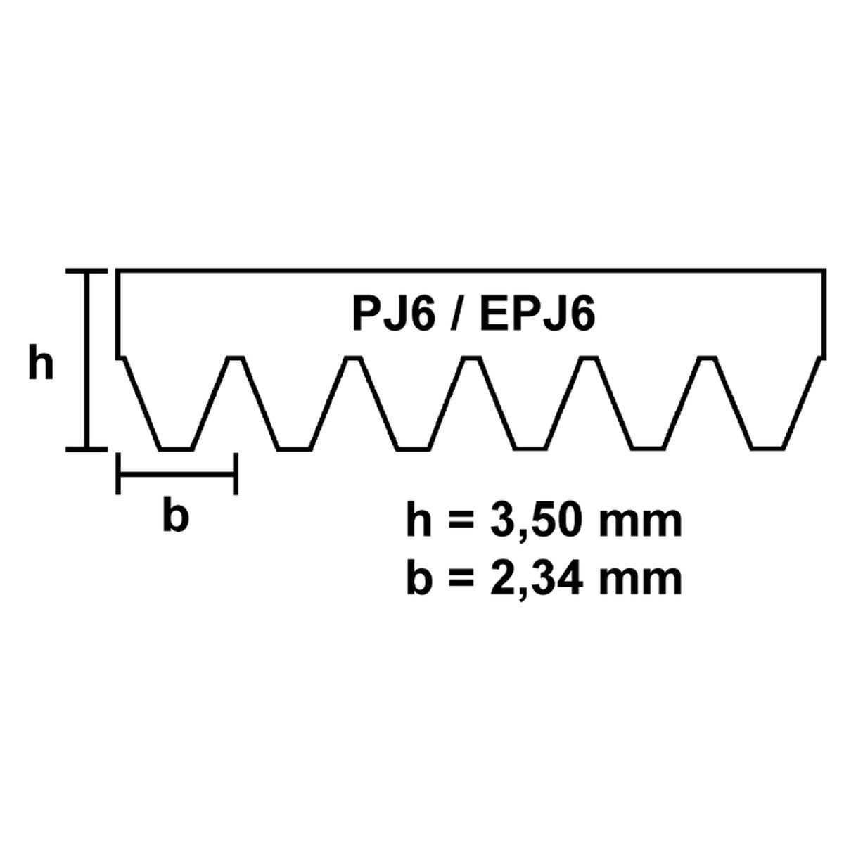 Fladrem EPJ6 1260 elastisk