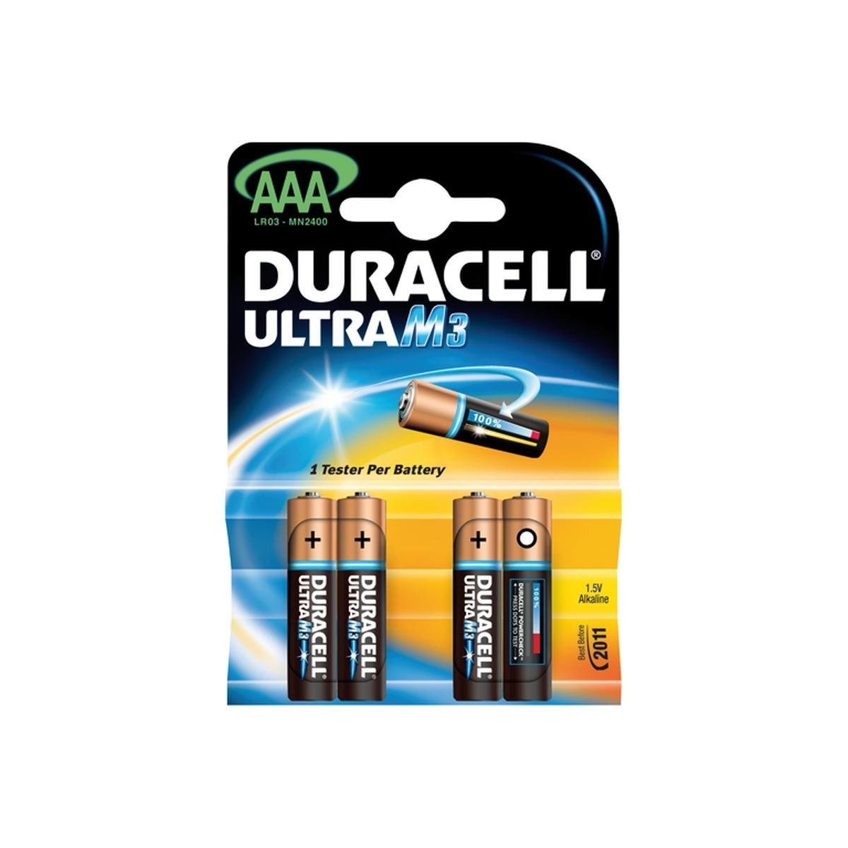 Batteri AAA / LR03 1,5V Ultra Power 4 stk. pakke