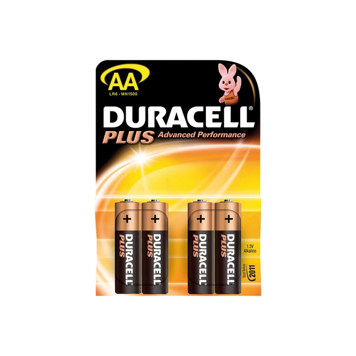 Batteri AA / LR6 1,5V Plus Power 4 stk. pakke