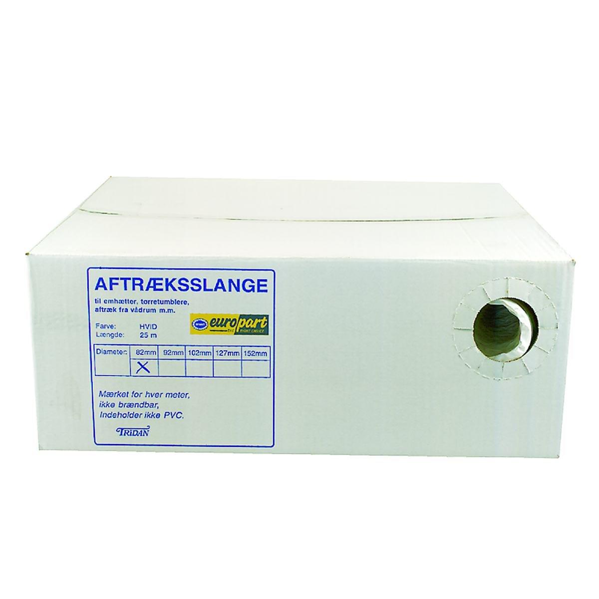 Aftræksslange Ø162 mm. kasse á 25 meter