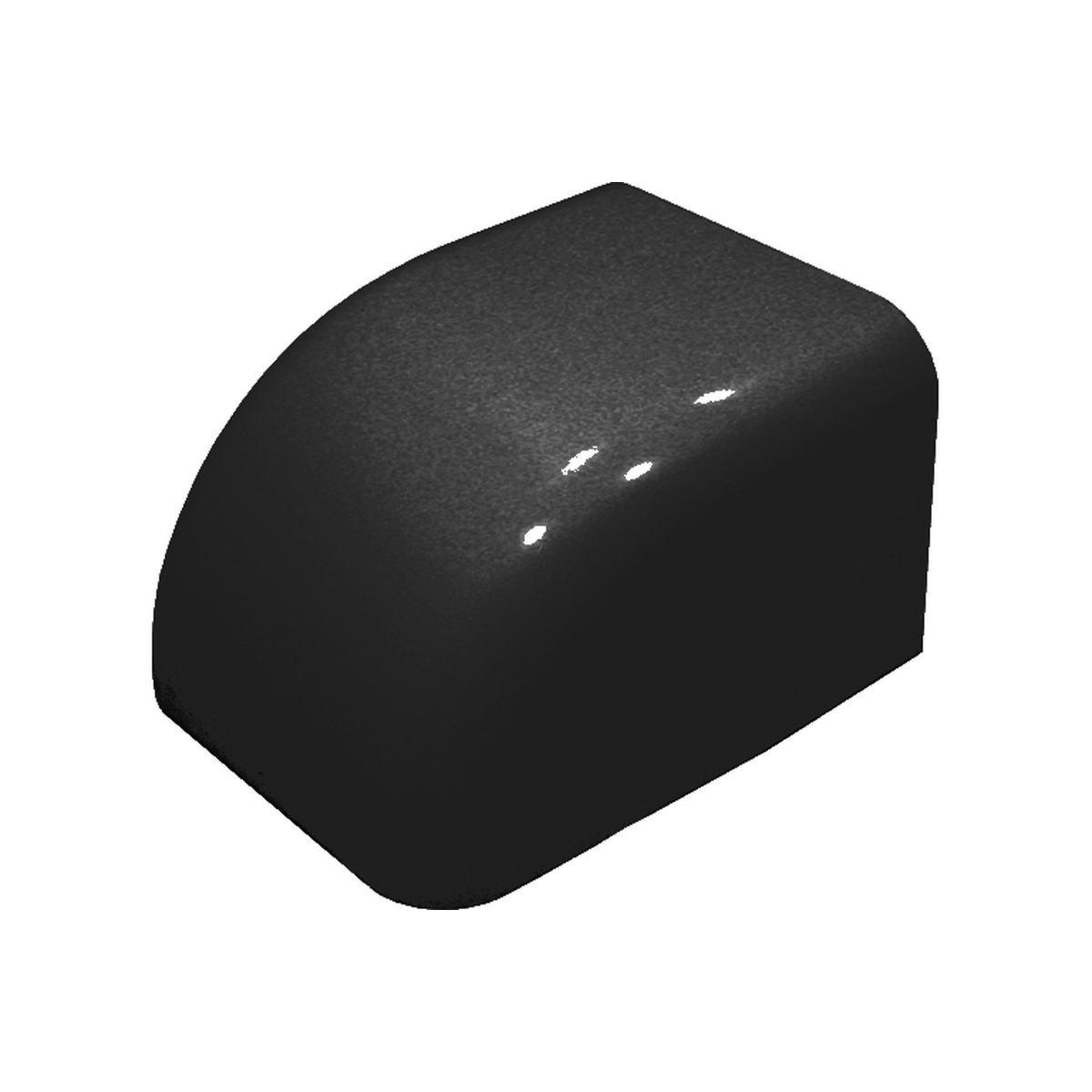 Gavellock utan kant 80 x 60 mm svart