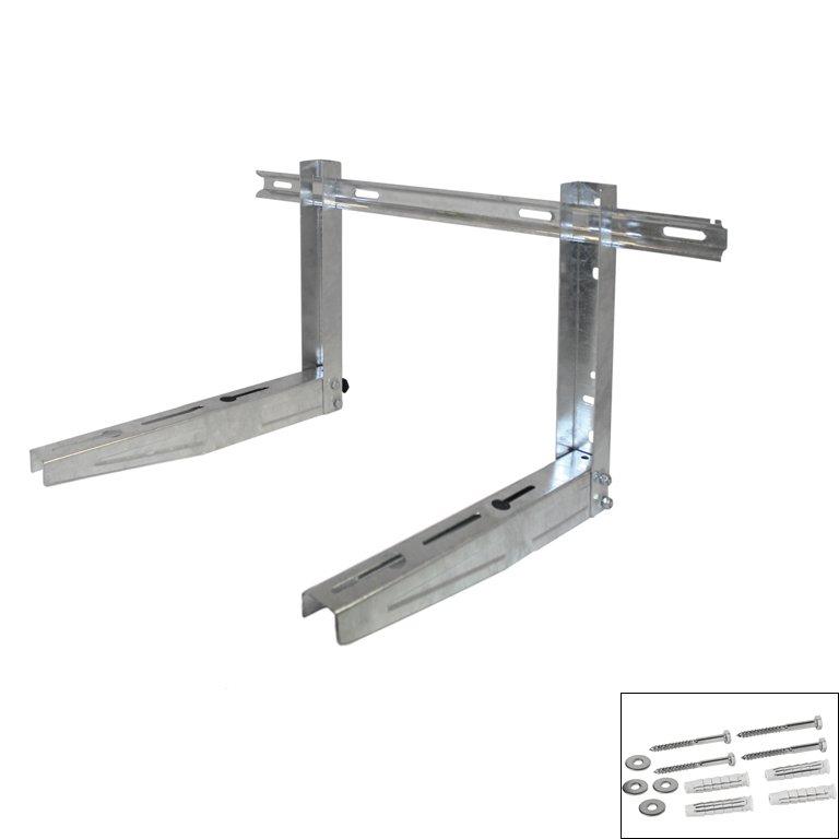 Montasjebeslag justerbar til vegg galvaniseret stå