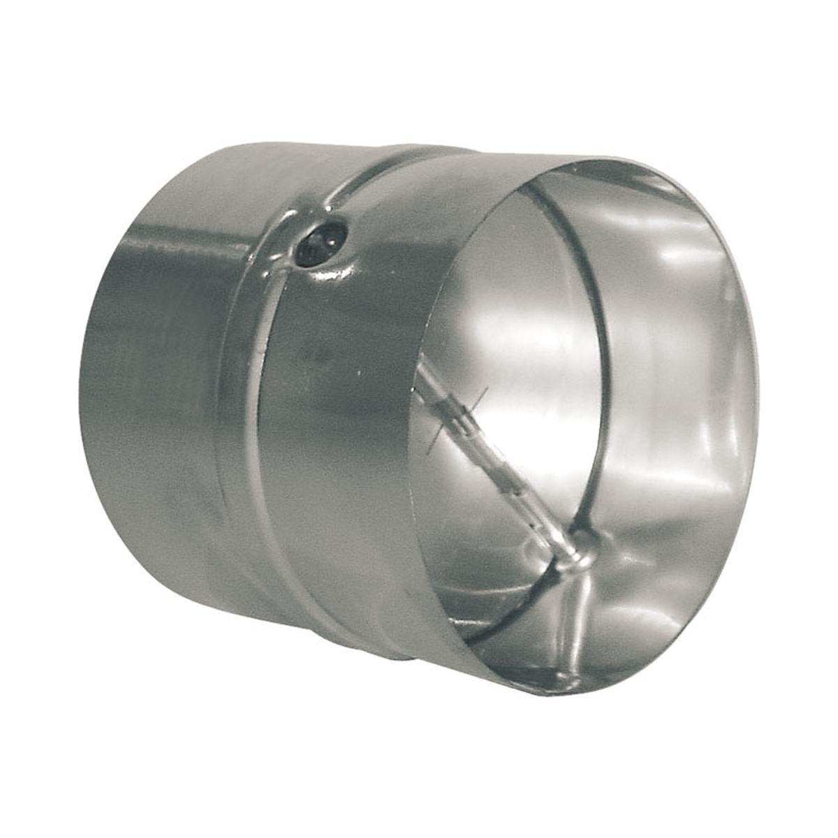 Vindstop / spjæld i metal til Ø125 mm. rør