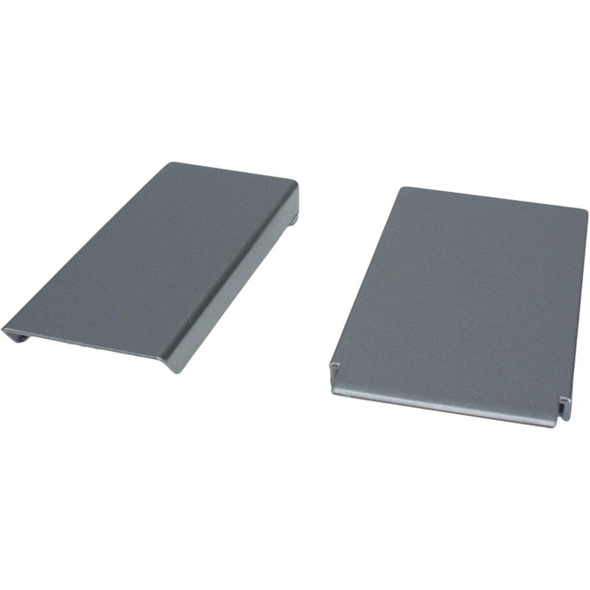 Afdækningsplade til dørgreb sølvgrå smal/bred