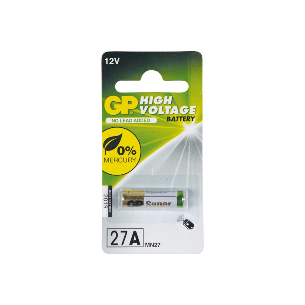 Batteri 27A 12V alkaline 1 stk pack - GP Batteries