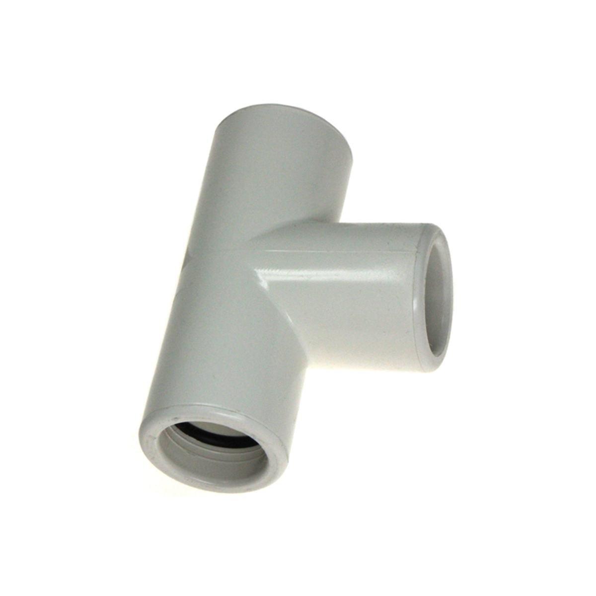 Rørmuffe T-stykke med O-ringe til 20 mm rør