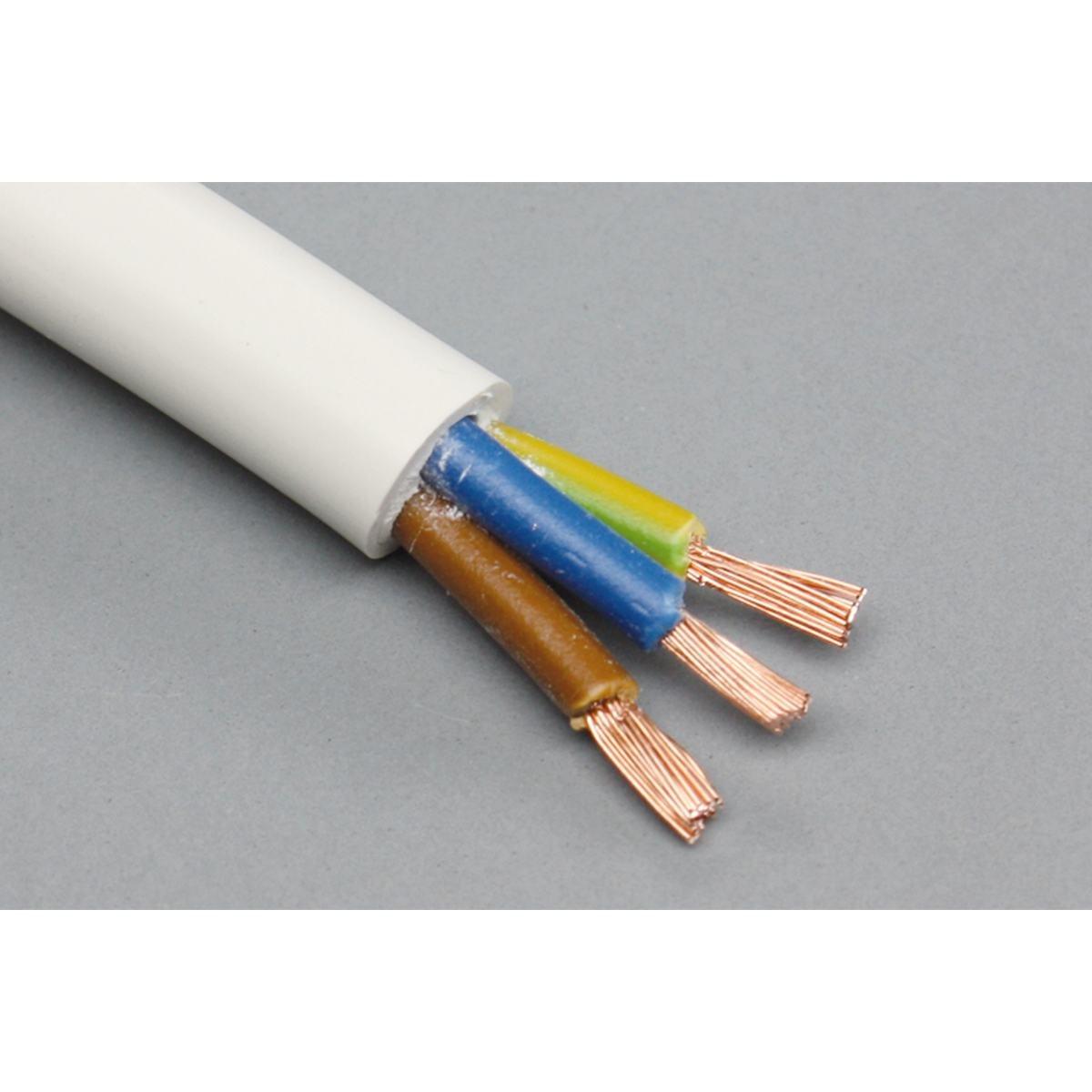 Tilslutningskabel 3 x 1 mm² flettet - pr meter