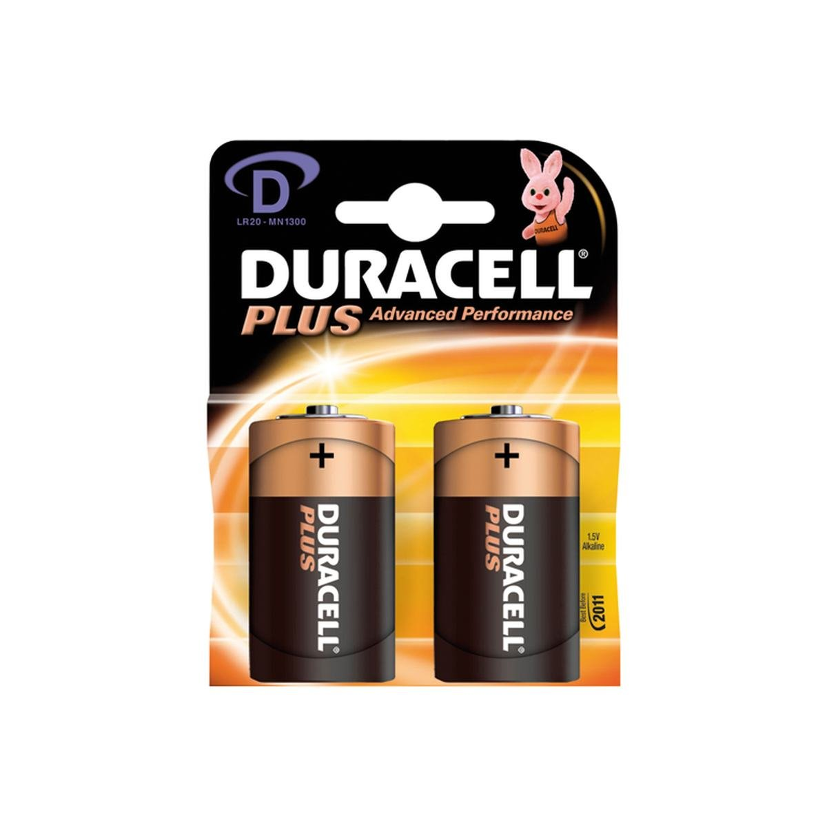 Batteri 1,5V Plus LR20 / D / Mono 2 st. pack - Dur