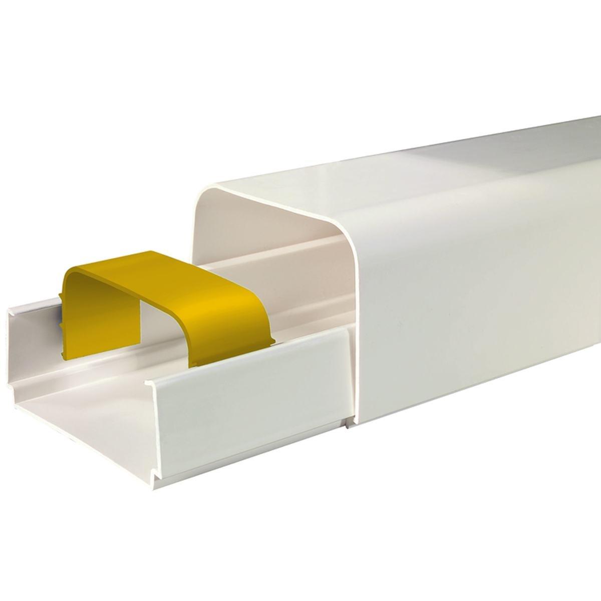 Kanallåda 80 x 60 mm vit 8 stk á 2 m