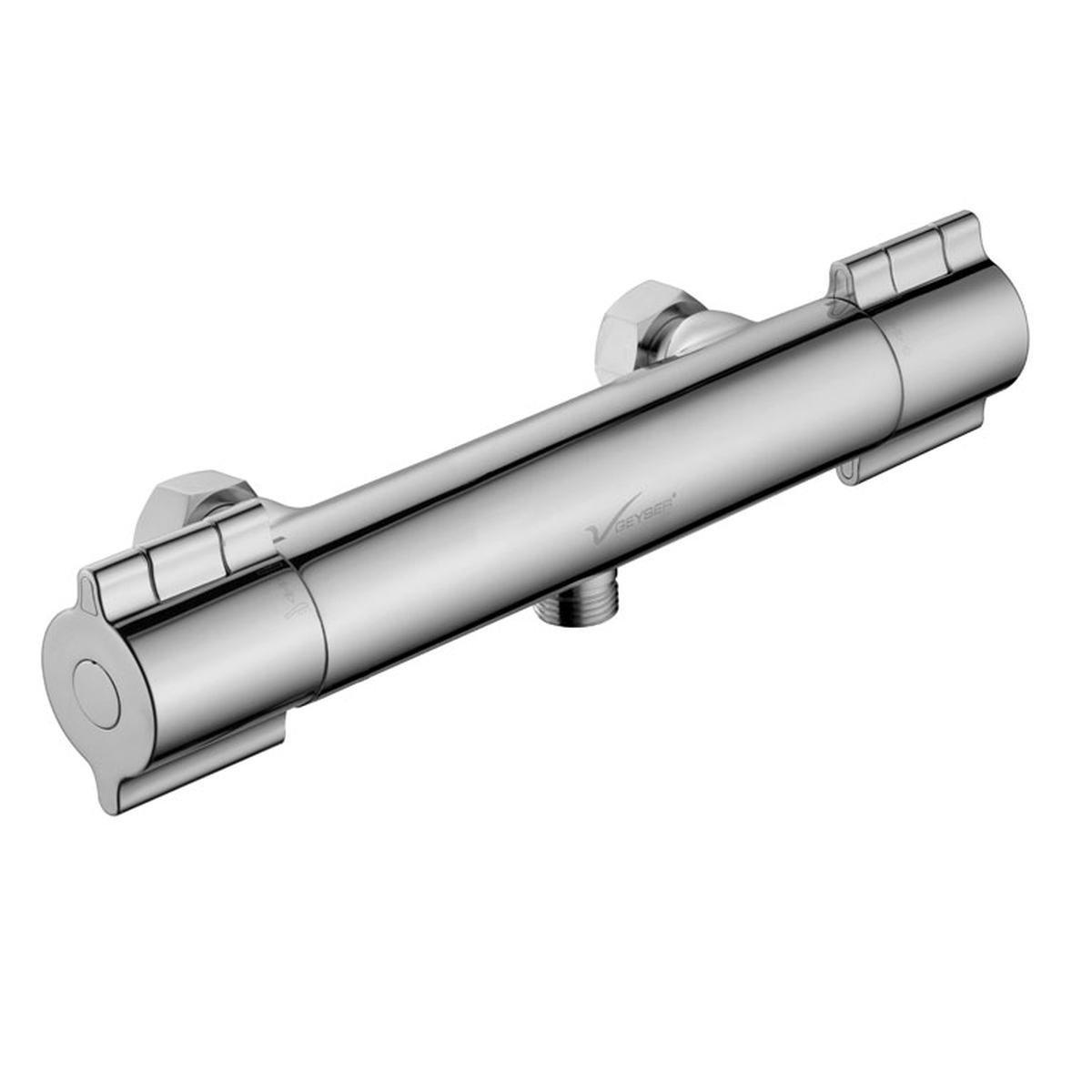 Brusearmatur krom - termostat - Geyser Ergo