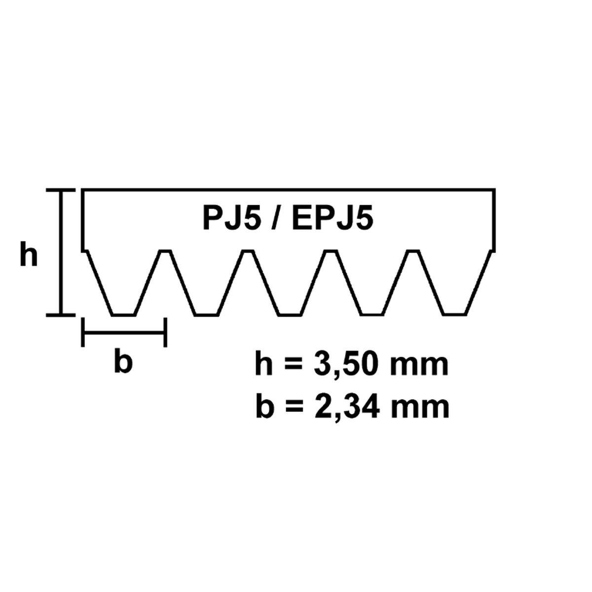 Fladrem EPJ5 1255 elastisk