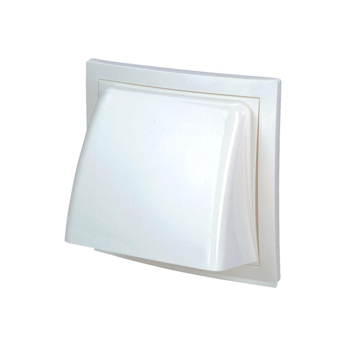 Klapventil Ø125 mm. hvid plast