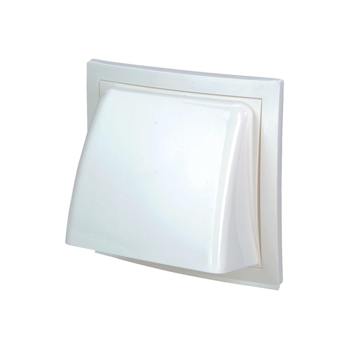 Klapventil Ø100 mm. hvid plast