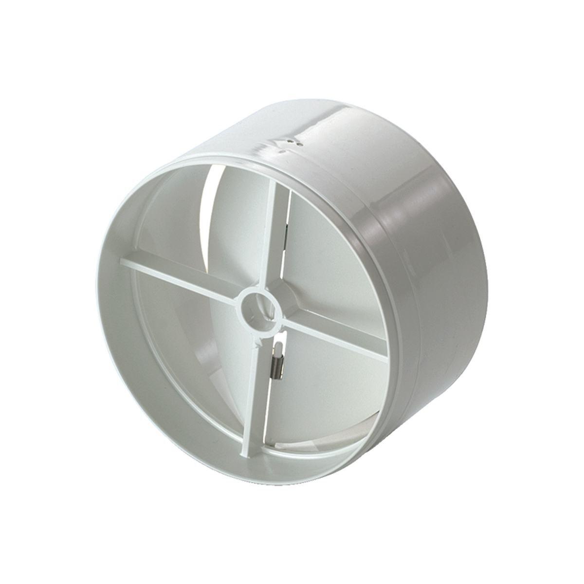 Vindstop / spjæld i plast til Ø100 mm. rør
