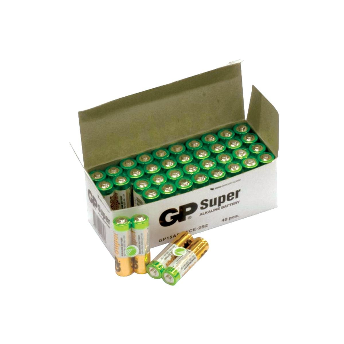 Batteri LR06/AA Bulk Pack 40 stk - GP Super Alkali