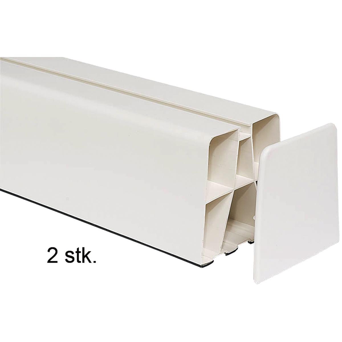 Montasjeblokk med endelokk 80 x 100 x 450 mm. pakk