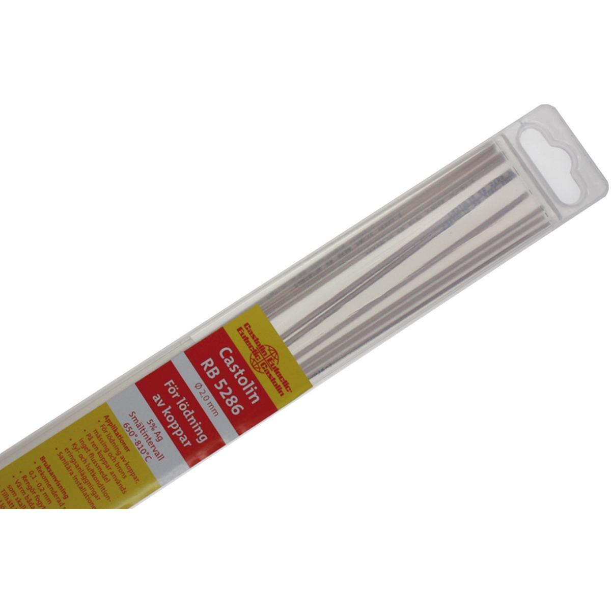 Kobber fosforlod 2,0 mm. 5% Ag - 10 stave
