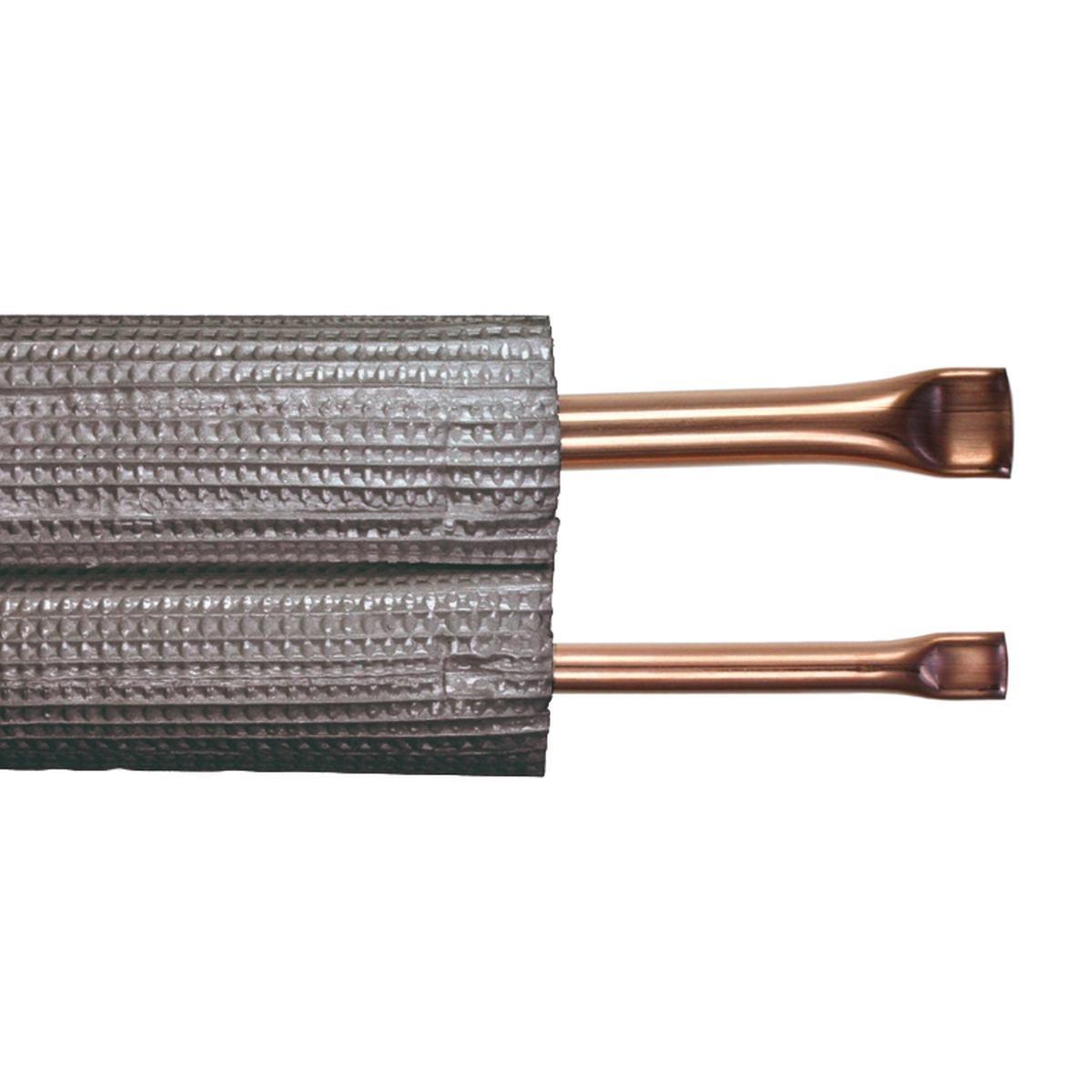 """Kobberrør isol. 1/4"""" + 3/8"""" x 0,8 mm 20m UV bestan"""
